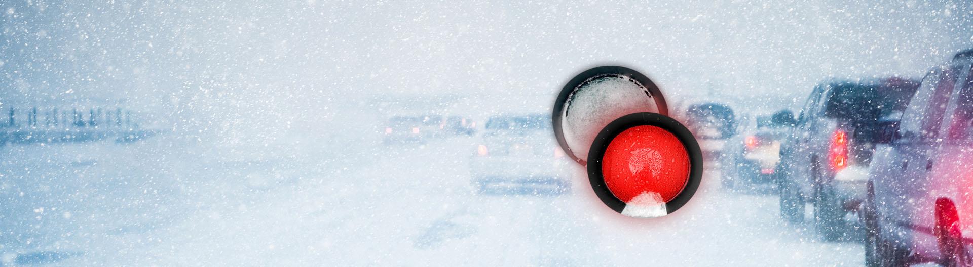 Heated Visor for traffic control